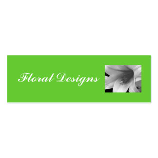 Flower Shop Profile Card Double-Sided Mini Business Cards (Pack Of 20)