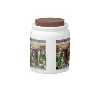 Flower Shop With Birdhouses Strasburg PA Candy Jar