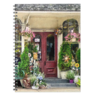 Flower Shop With Birdhouses Strasburg PA Spiral Note Book