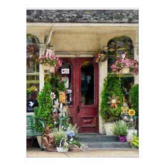 Flower Shop With Birdhouses Strasburg PA Poster