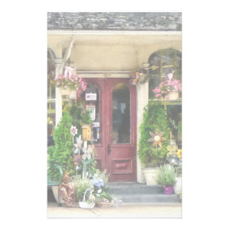 Flower Shop With Birdhouses Strasburg PA Stationery Paper