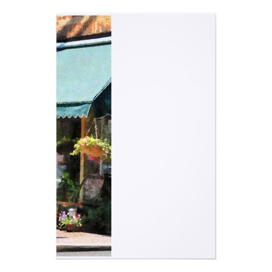 Flower Shop With Green Awning Stationery