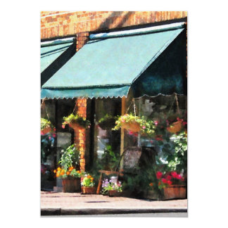 Flower Shop With Green Awnings Card