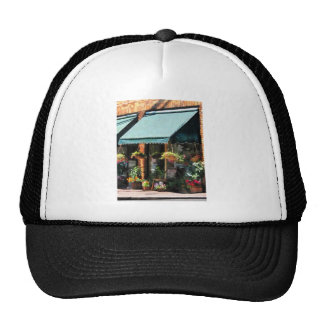 Flower Shop With Green Awnings Trucker Hats