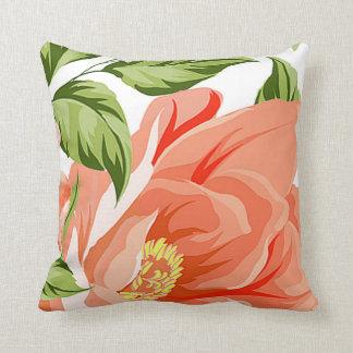 Flower Shower Bouquet | peach Throw Pillow