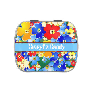 Flower Shower Jelly Belly Candy Tins