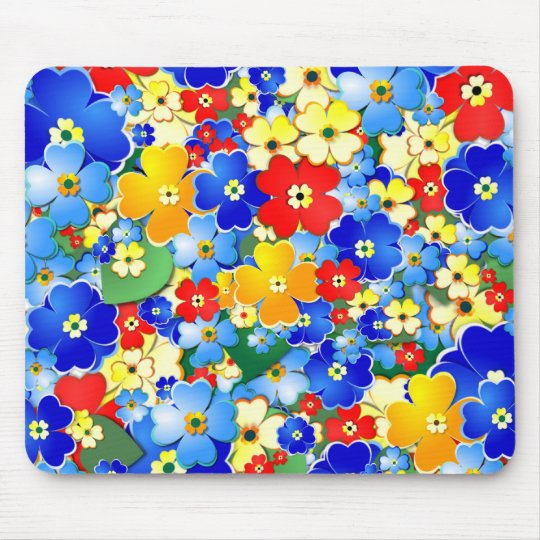 Flower Shower Mouse Pad