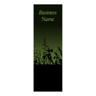 Flower Silhouettes Bookmark Business Cards