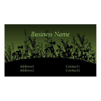 Flower Silhouettes Business Cards