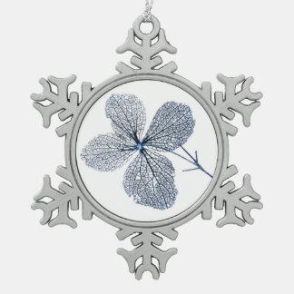 Flower Skeleton ~ Pewter ornament