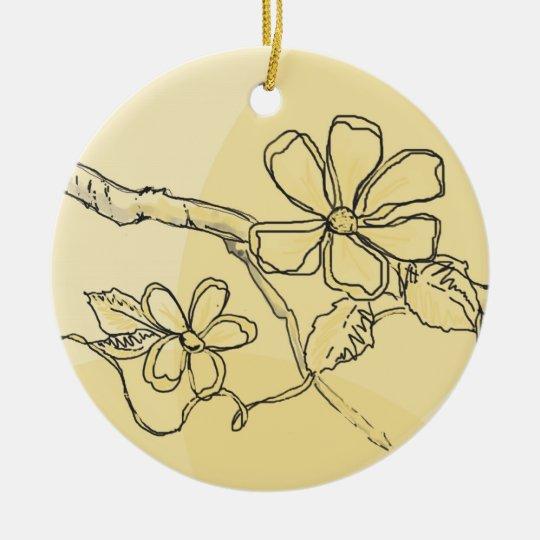 Flower Sketch Ornament