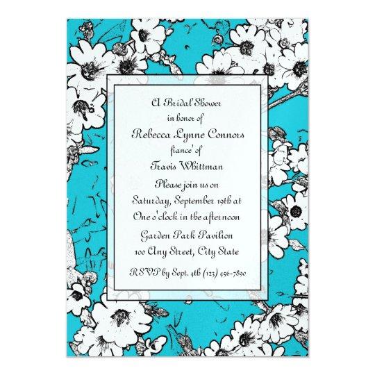 Flower Sketches/ Bridal Shower Card