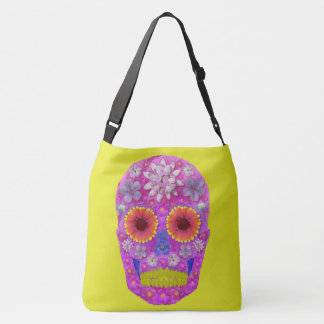 Flower Skull 2 Crossbody Bag