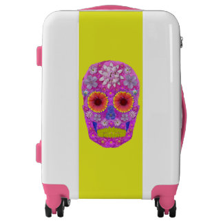 Flower Skull 2 Luggage
