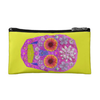 Flower Skull 2 Makeup Bag