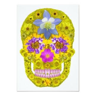 Flower Skull 3 Card