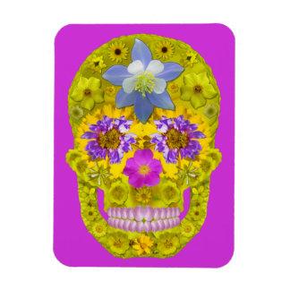 Flower Skull 3 Magnet