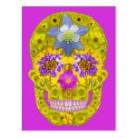 Flower Skull 3 Postcard