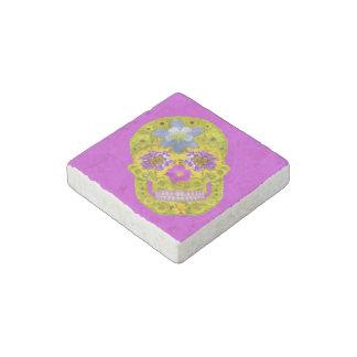 Flower Skull 3 Stone Magnet