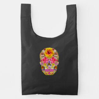 Flower Skull 4 - Tropical Reusable Bag
