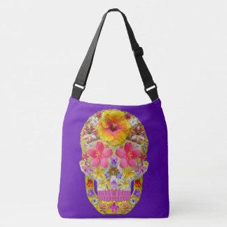 Flower Skull 4 - Tropical Tote Bag