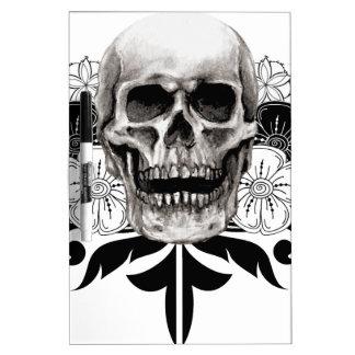 Flower & Skull Dry-Erase Board