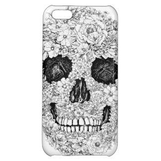 Flower Skull Iphone Case Case For iPhone 5C