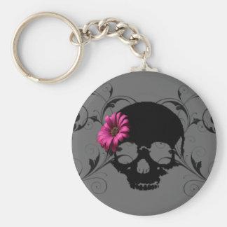 flower skull Key chain