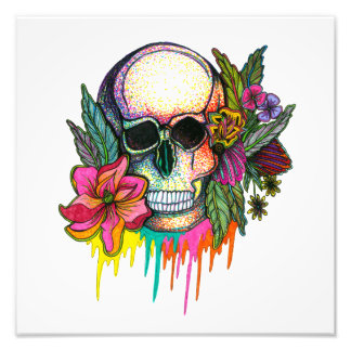 Flower Skull Photo Print