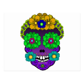Flower Skull Postcard