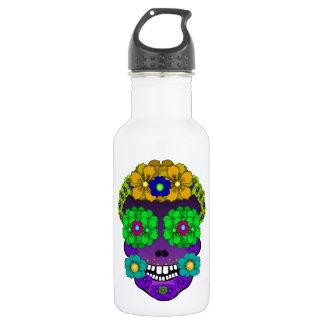 Flower Skull Stainless Steel Water Bottle