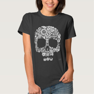 Flower Skull T Shirts