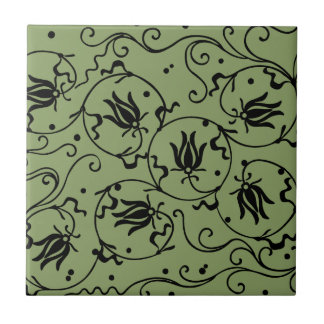 flower small square tile