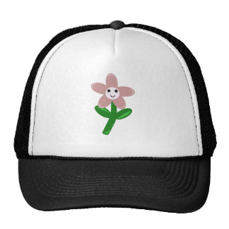 Flower Smiley Trucker Hat
