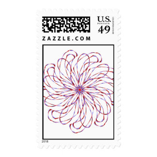 Flower spiral light purple lacy design graphic postage stamp