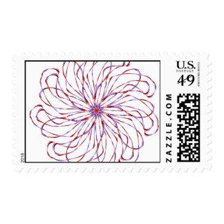 Flower spiral light purple lacy design graphic stamp