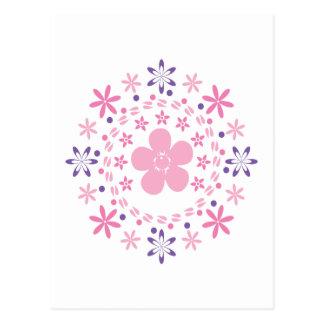 Flower Spiral: Vector Art: Postcard