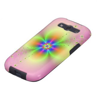 Flower Spray on Pink Galaxy S3 Covers