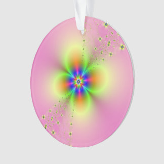Flower Spray on Pink Ornaments