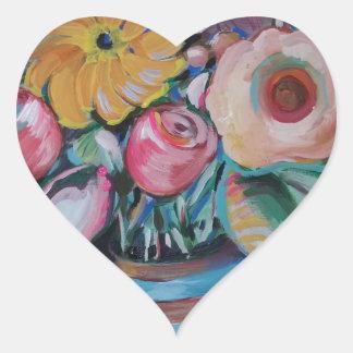 Flower Spree Heart Sticker