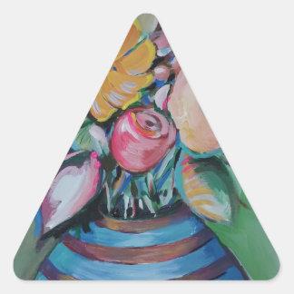 Flower Spree Triangle Sticker