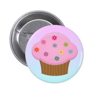 Flower Sprinkles Cupcake Button