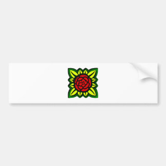 Flower square more flower square bumper sticker