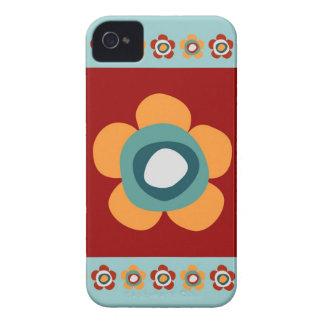 Flower Stamp iPhone 4 Case