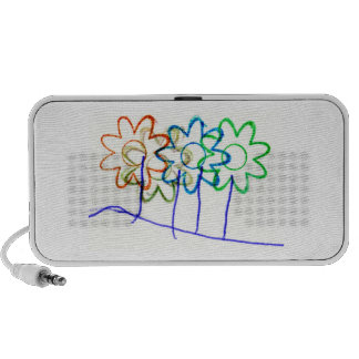 Flower Stamps Portable Speaker