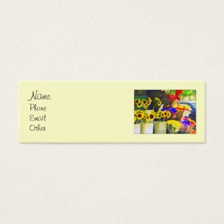 Flower Stand Mini Profile Mini Business Card