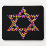 Flower Star of David Mouse Pad