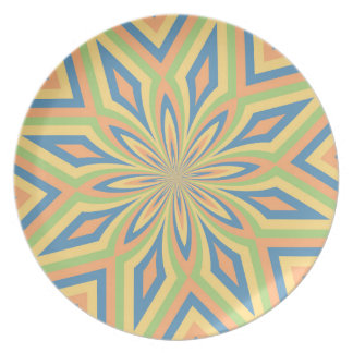 Flower Star Sun Drenched Striped Colors Plate