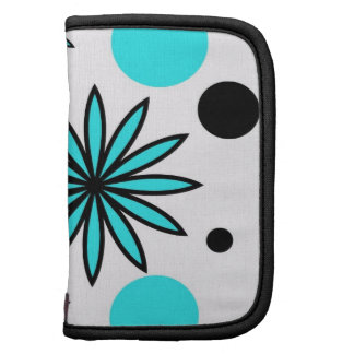 Flower Stars with Teal Polka Dots Planners