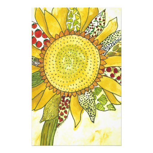 flower stationery design